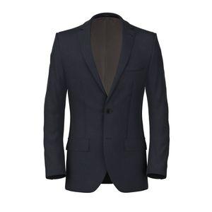 Jacket Blue Linen Mohair