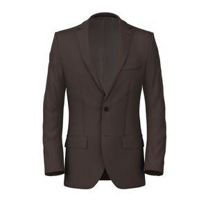 Jacket Tobacco Linen Mohair