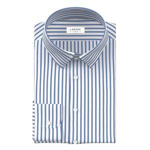 Camicia Blu Oxford a Righe