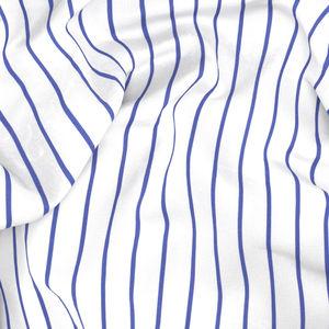 Camicia Blu Maxi Rigata