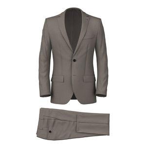 Suit Beige Overcheck