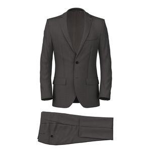 Suit Grey Macro Stripe