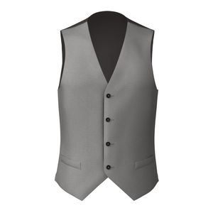 Waistcoat Grey Wool Silk