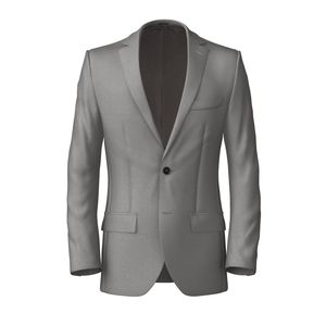 Jacket Grey Wool Silk