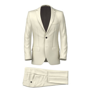 Suit Ivory Cotton Twill