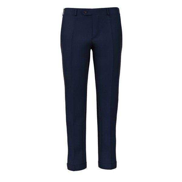 Pantalone Vitale Barberis Canonico Primavera/Estate Tinta Unita Blu Scuro