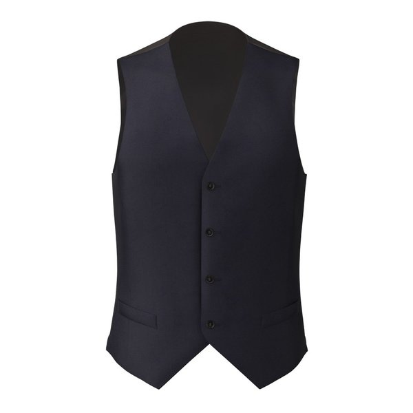 Waistcoat Lanificio Ermenegildo Zegna Four Seasons Solid Blue
