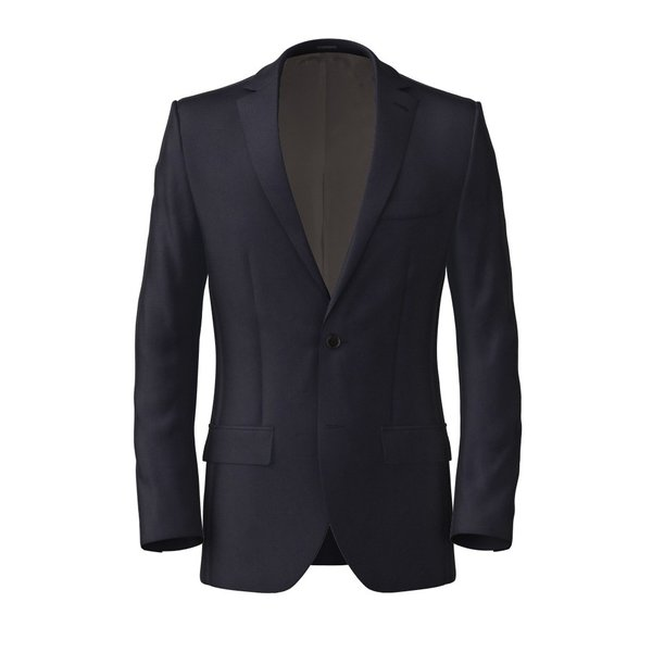 Jacke Lanificio Ermenegildo Zegna Four Seasons Solid Blue
