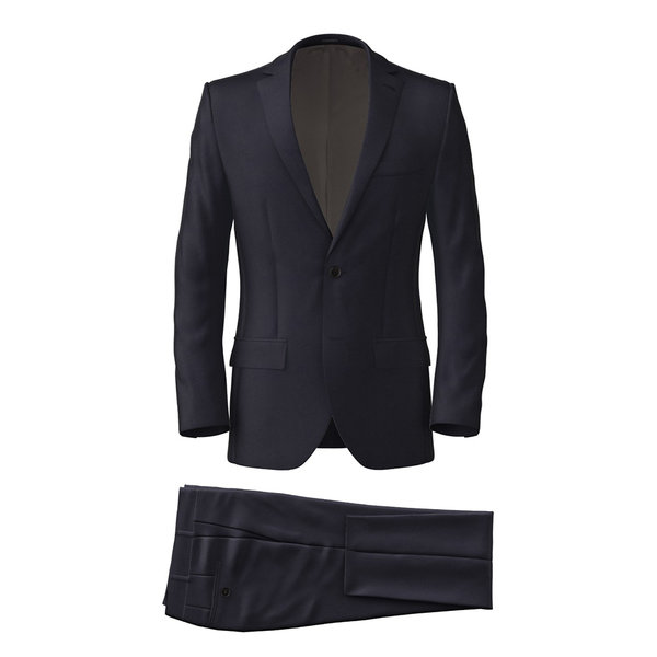 Suit Lanificio Ermenegildo Zegna Four Seasons Solid Blue