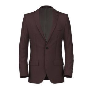 Jacket Linen Silk Bordeaux