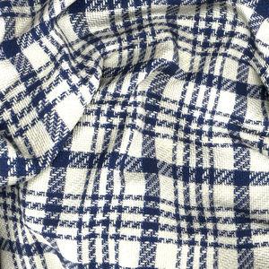 Jacket Silk Cotton Blue Check