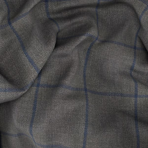 Pantalone Grigio Blu Finestrato