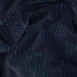 Anzug Blau Nadelstreifen-Dessin