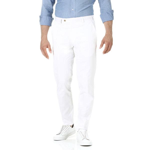 Pantaloni chino Bianchi Tessuto prodotto da  Tessuti di Sondrio