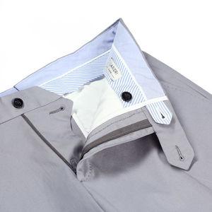 Pantaloni chino Grigi Tessuto prodotto da  Tessuti di Sondrio