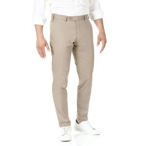 Pantaloni chino Beige Tessuto prodotto da  Tessuti di Sondrio