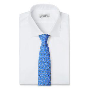 Cravatta Boteh Blu Elettrico Seta Tessuto prodotto da  Lanieri - Made in Italy