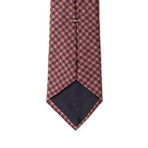 Cravatta Pied de Poule Viola Seta Tessuto prodotto da  Lanieri - Made in Italy