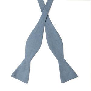 Papillon Cotone Spigato Azzurro Tessuto prodotto da  Lanificio Ermenegildo Zegna