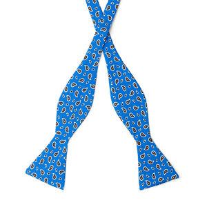 Papillon Boteh Blu Elettrico Seta Tessuto prodotto da  Lanieri - Made in Italy
