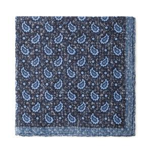 Pochette costume Boteh Bleu Laine Tissu fabriqué par  Lanieri - Made in Italy