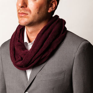 Tubo Mélange Bordeaux Scarf Fabric produced by  Botto Giuseppe & Figli