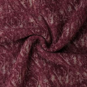 Sciarpa Cashmere Fantasia Bordeaux Tessuto prodotto da  MaAlBi
