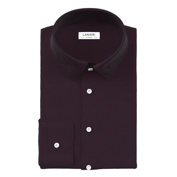 Camicia Prugna Tessuto prodotto da  Canclini