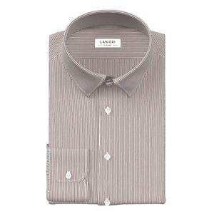 Camicia Righe Marroni Tessuto prodotto da  Canclini