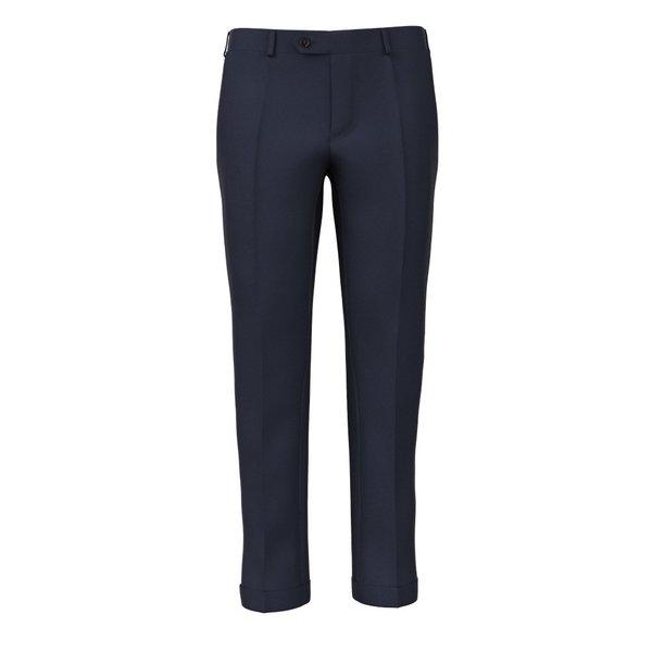 Pantalon Super 180's Bleu Tissu fabriqué par  Drago