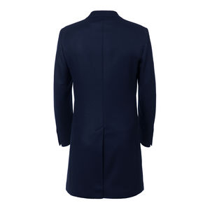 Blue Wool Cashmere Coat Fabric produced by  Drago