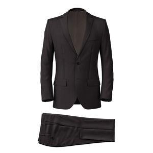 Suit Super 160's Grey Herringbone