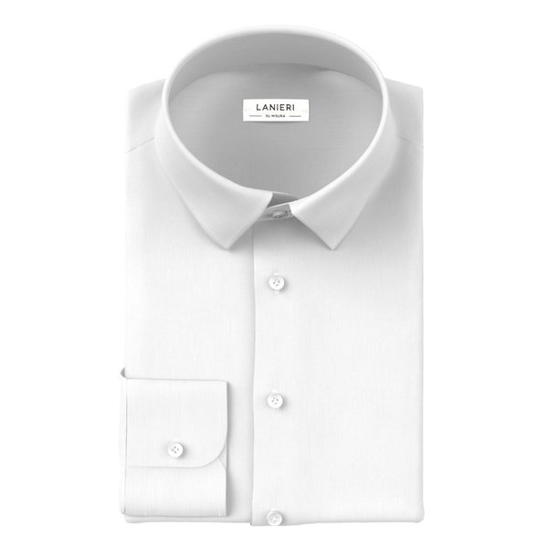 Icon White Poplin Shirt Fabric produced by  Ibieffe