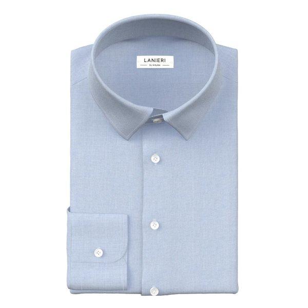 Camicia No Iron Azzurra Tessuto prodotto da  Ibieffe
