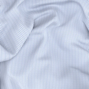 No Iron Light Blue Stripe Shirt Fabric produced by  Ibieffe