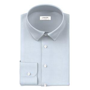 Shirt Light Blue Houndstooth
