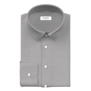Soft Grey Shirt Fabric produced by  Albini
