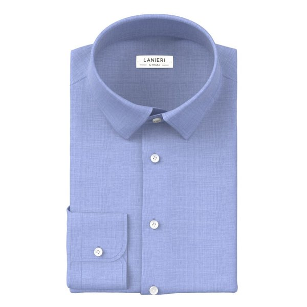Shirt Albini Four Seasons Solid Light Blue