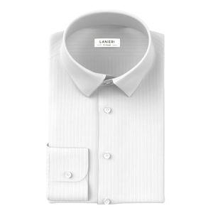 Camicia Cerimonia Bianco Rigato Fine