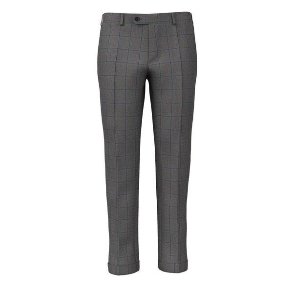 Pantaloni Grigio Blu Finestrati Tessuto prodotto da  Loro Piana