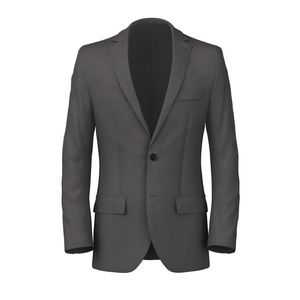 Hopsack Gray Blazer Fabric produced by  Loro Piana