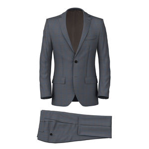 Anzug Grau Check
