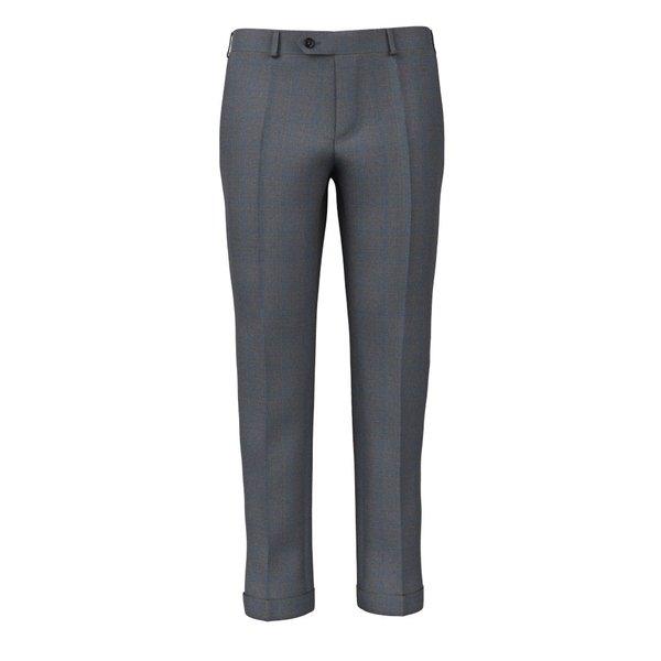 Pantaloni Check Grigi Tessuto prodotto da  Loro Piana