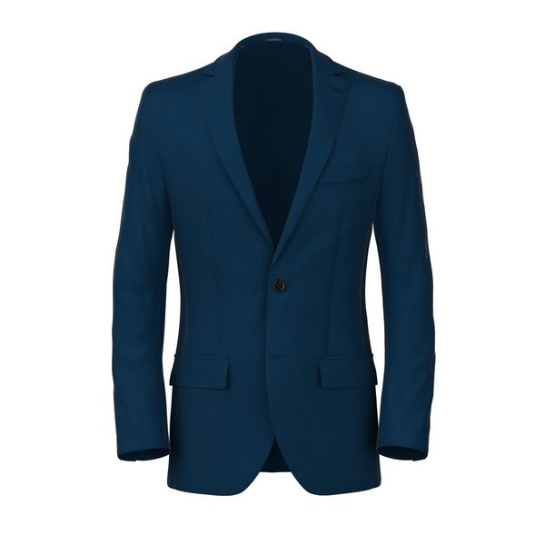 Mohair Petrol Blue Blazer Fabric produced by  Marzotto