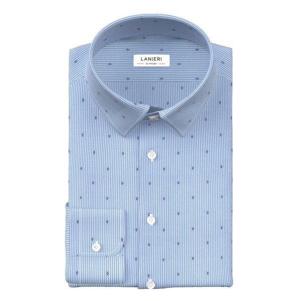 Camicia Azzurra Fantasia Tessuto prodotto da  Thomas Mason