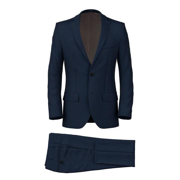 Anzug 150's Blau Sharkskin-Muster Produzent  Reda