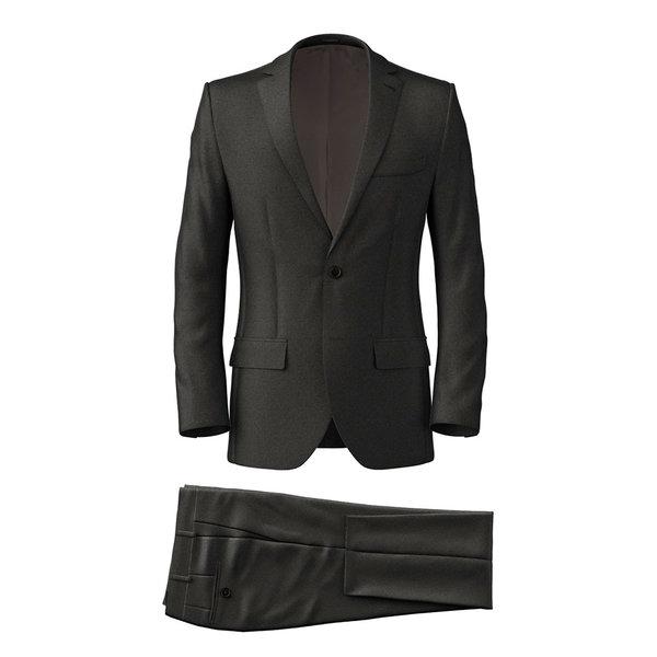 Anzug Reda Four Season Solid Dark grey