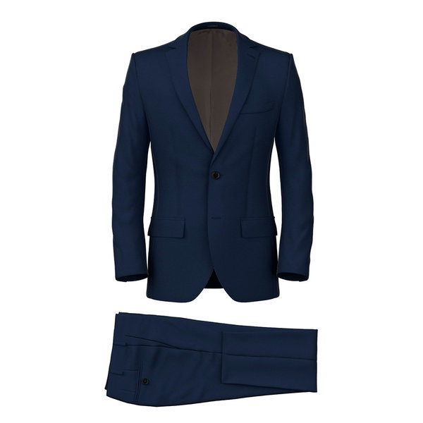 Blue Micro Herringbone Suit Fabric produced by  Reda