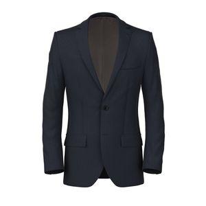 Jacket Blue Stripe Twill