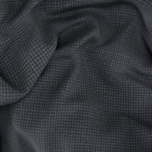 Charcoal Grey Houndstooth Trousers Fabric produced by  Reda